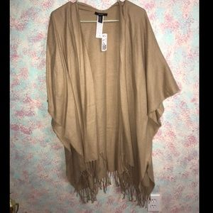 M/L Camel color woven shawl - Forever 21 w/tags